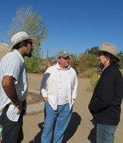 Hooman Fazly, Bill Wilson, Geoff Lawton at Cal-Earth