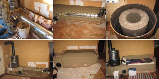 Making a rocket stove mass heater.